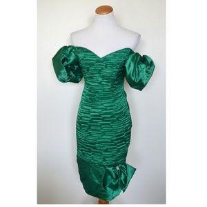 Vintage 80s Formal Prom Dress
